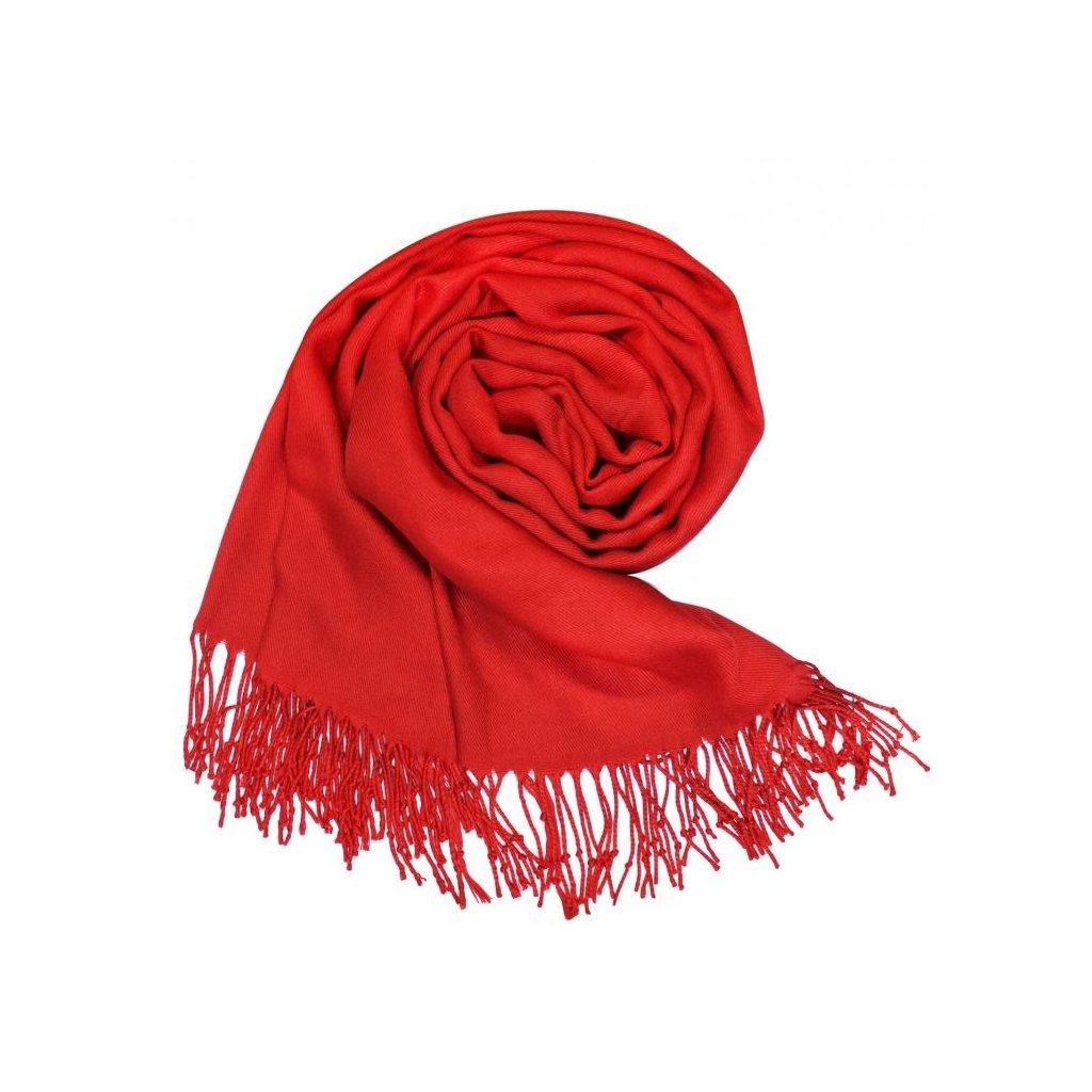 Dámská červená šála