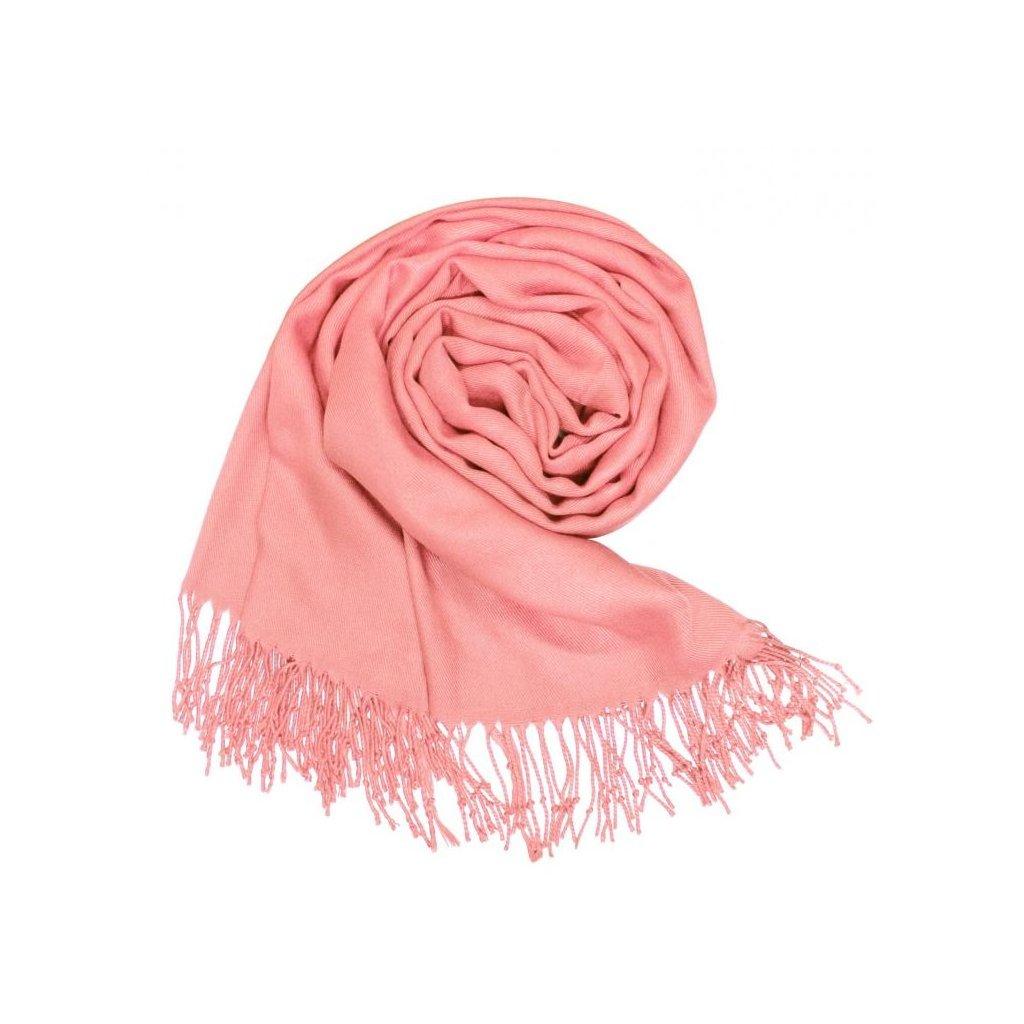 Dámská růžová šála