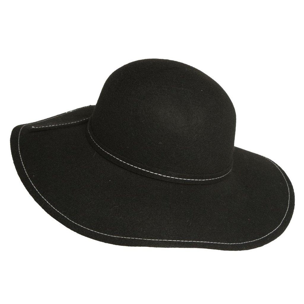 Dámský klobouk-černobílý