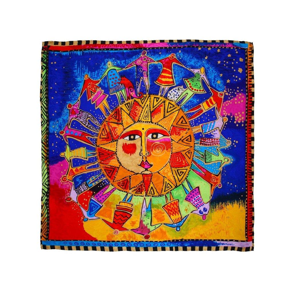 HEDVÁBNÝ ŠÁTEK - Modré slunce