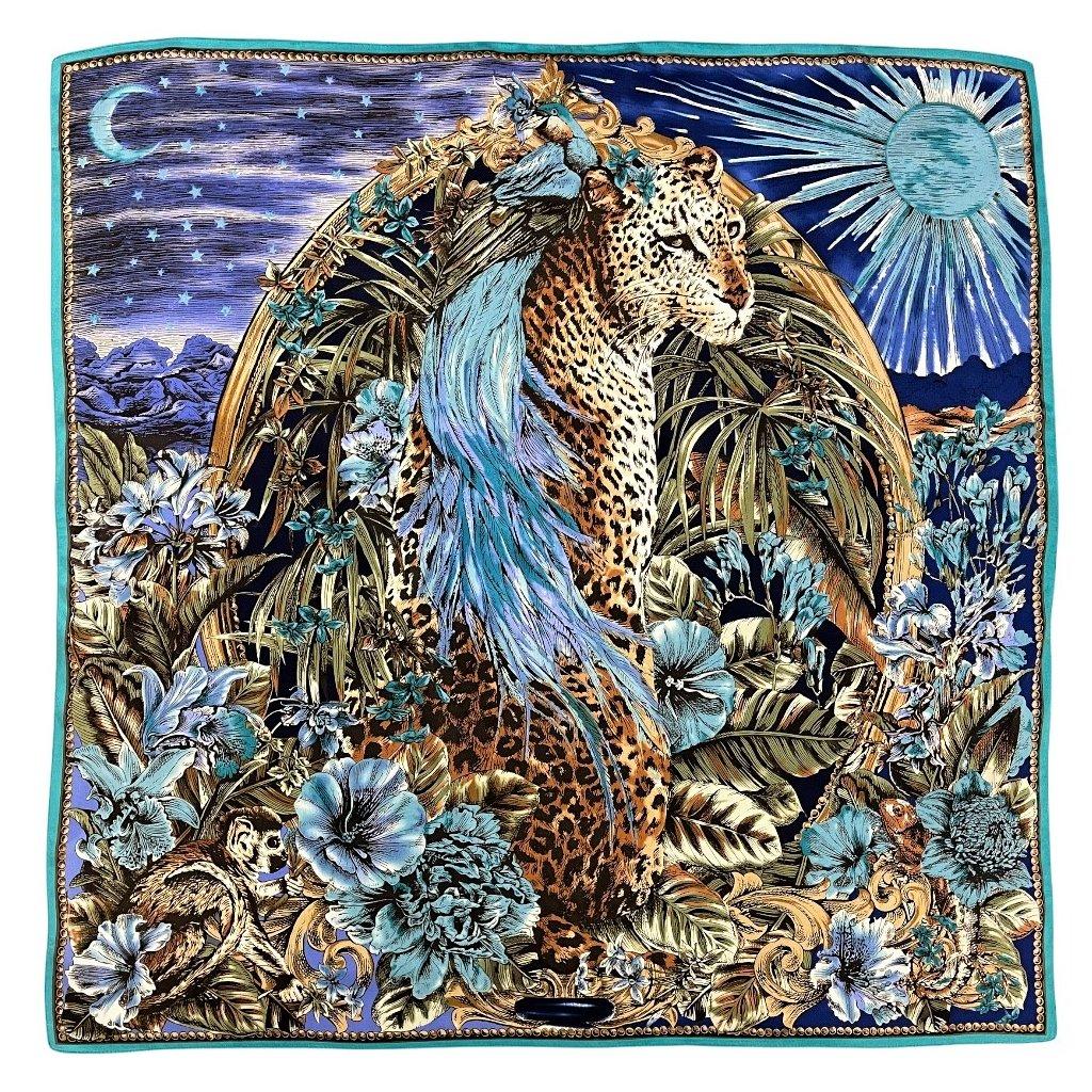 HEDVÁBNÝ ŠÁTEK - Leopard