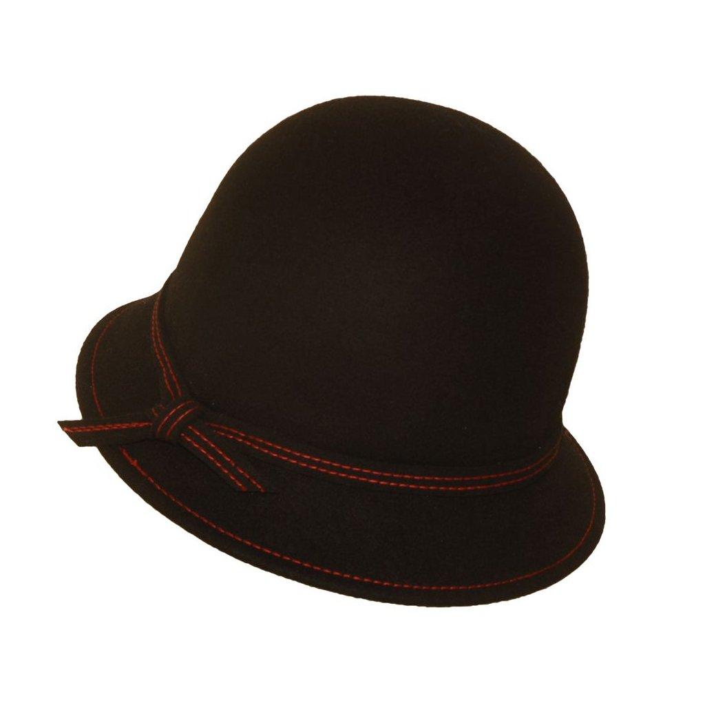 Dámský klobouk-černočervený