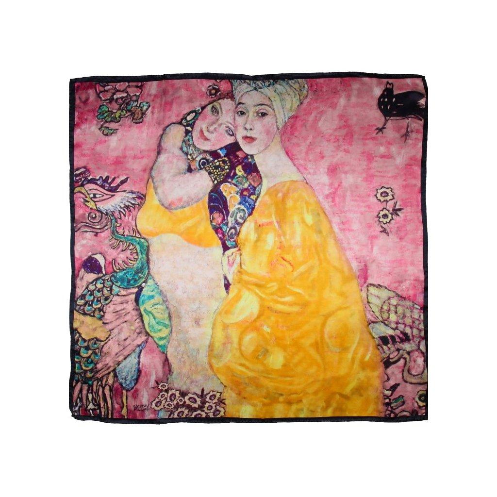 HEDVÁBNÝ ŠÁTEK Gustav Klimt - Přítelkyně