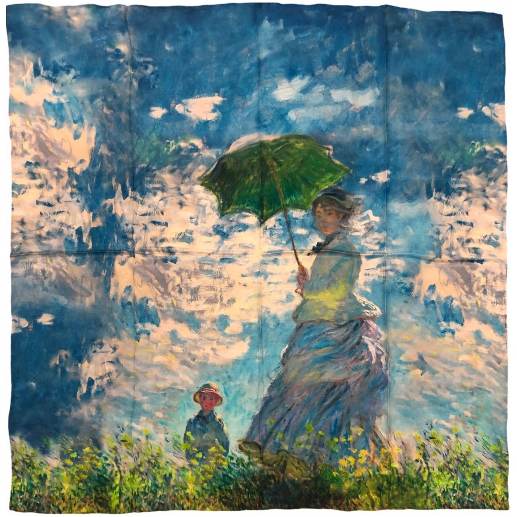 HEDVÁBNÝ ŠÁTEK Claude Monet - Paní Monetová