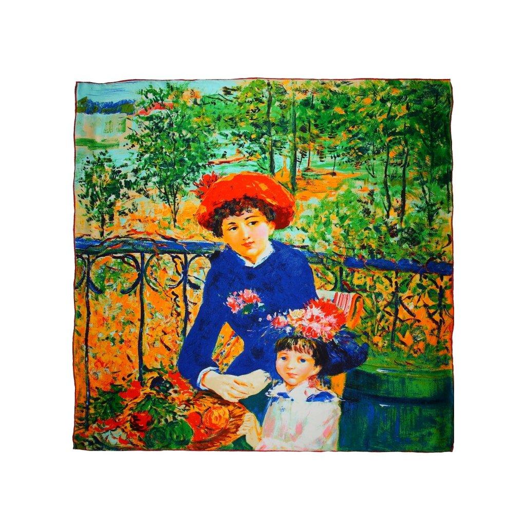 HEDVÁBNÝ ŠÁTEK Auguste Renoir- Dvě sestry