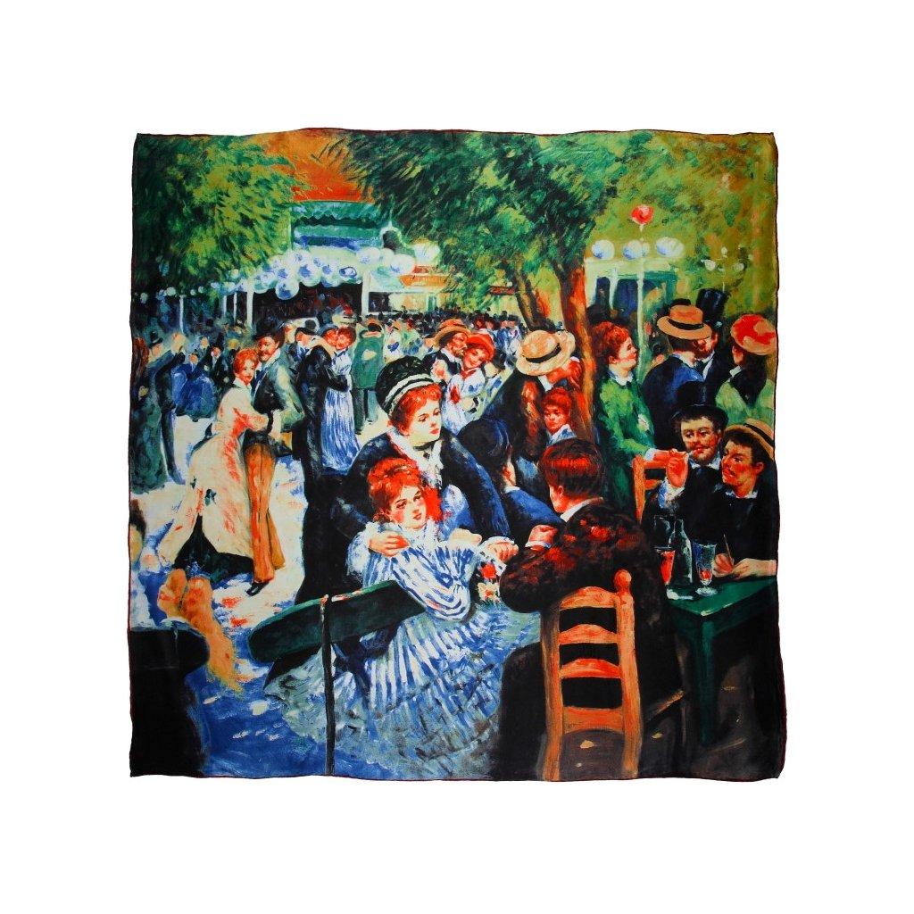 HEDVÁBNÝ ŠÁTEK Renoir - Francouzský waltz