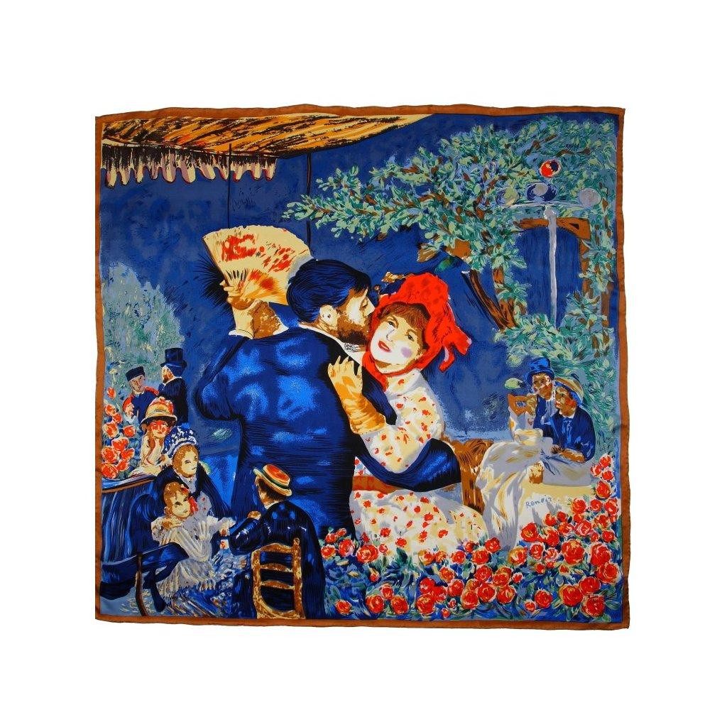 HEDVÁBNÝ ŠÁTEK Renoir - Tanec na venkově