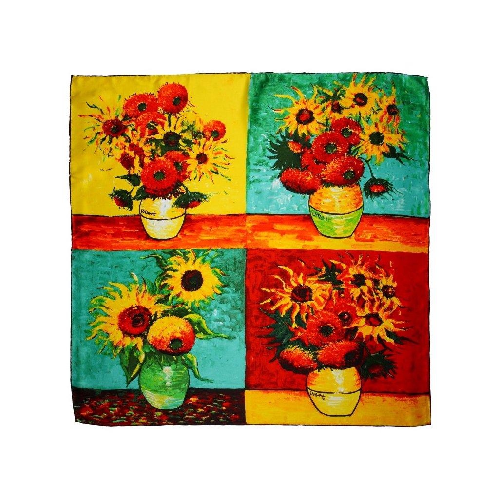 HEDVÁBNÝ ŠÁTEK Van Gogh - Vázy