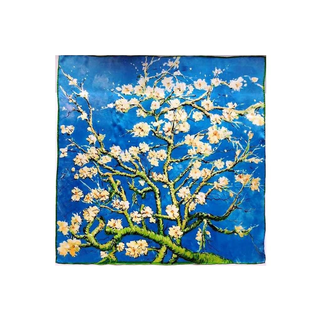 HEDVÁBNÝ ŠÁTEK Van Gogh - Větev mandlovníku