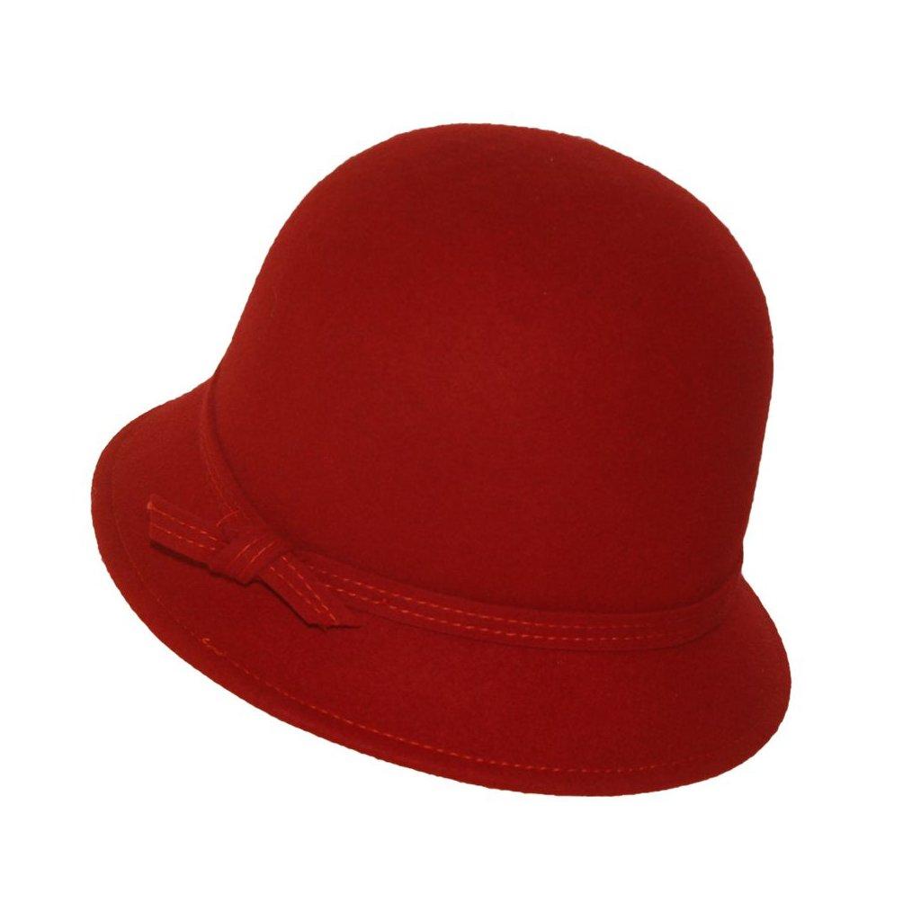 Dámský klobouk-červený