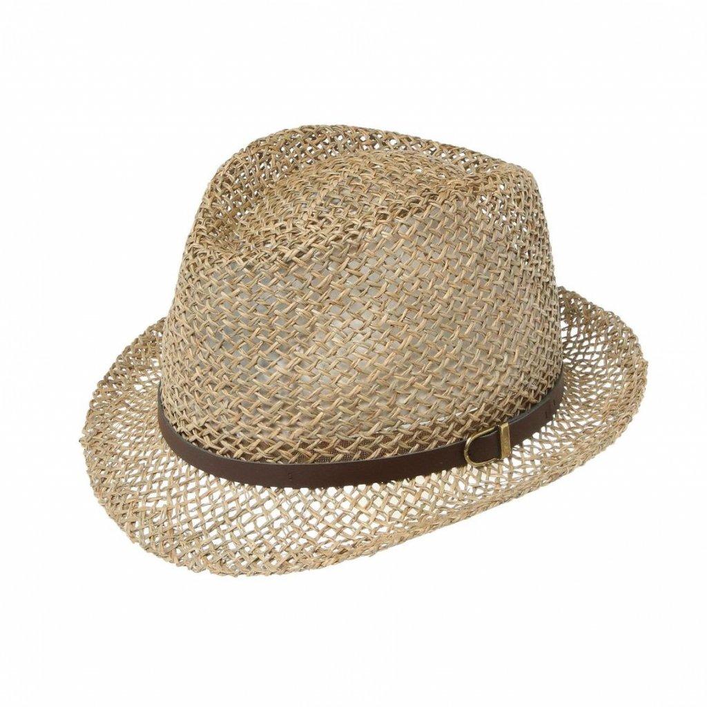 """Pánský letní klobouk z mořské trávy """"Trilby"""""""