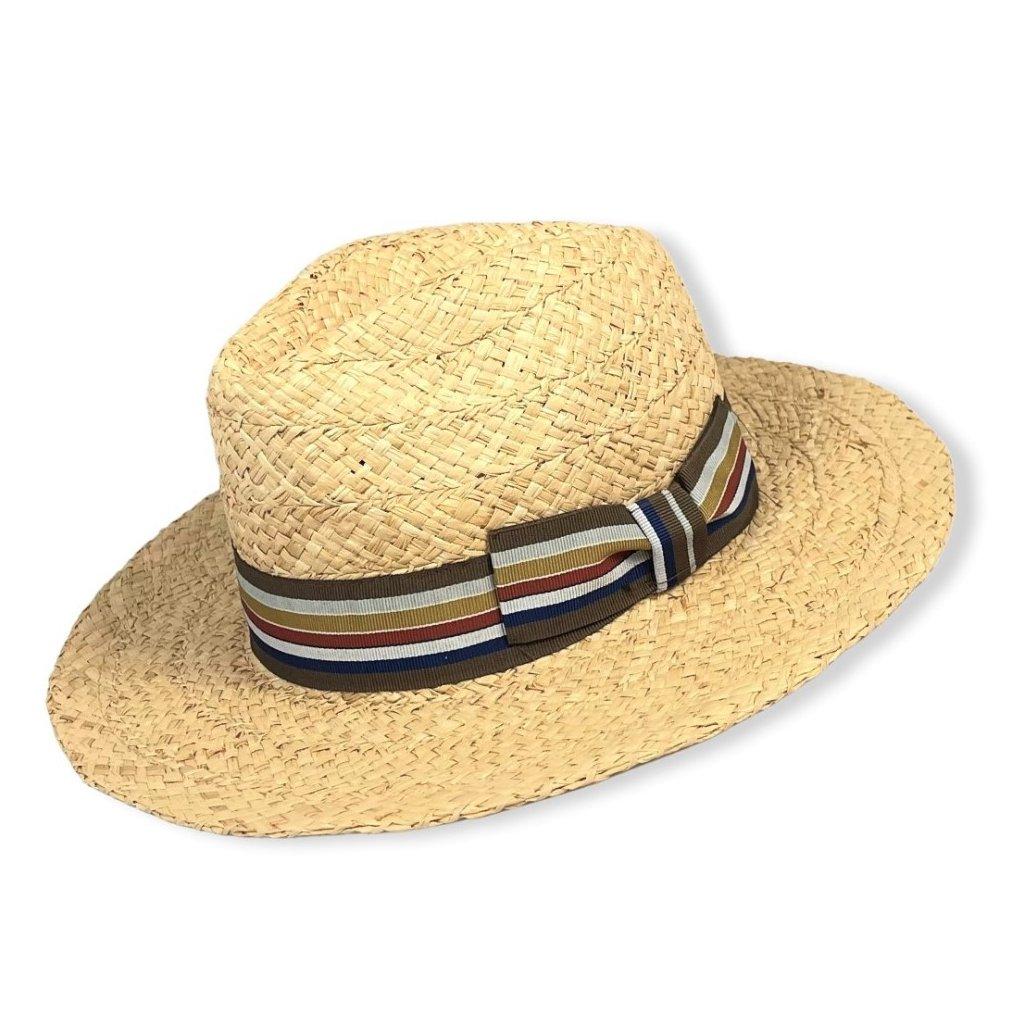Pánský letní přírodní klobouk Fedora