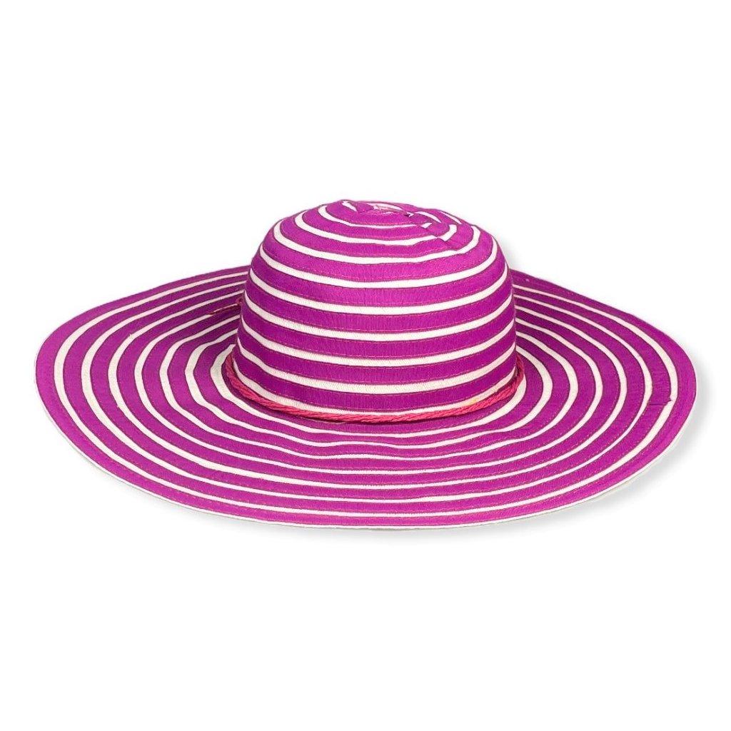 Dámský letní pruhovaný klobouk