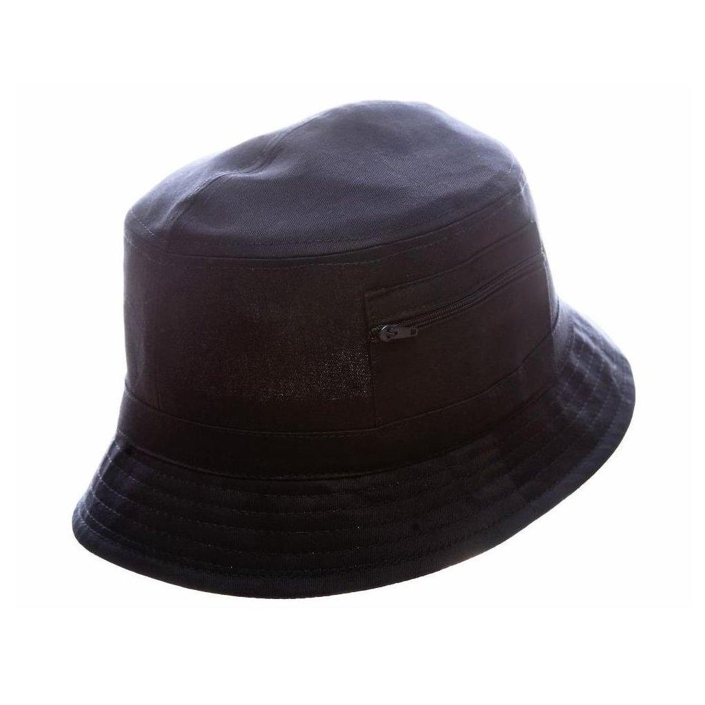 """Pánský letní bavlněný modrý klobouk """"Bucket hat"""""""