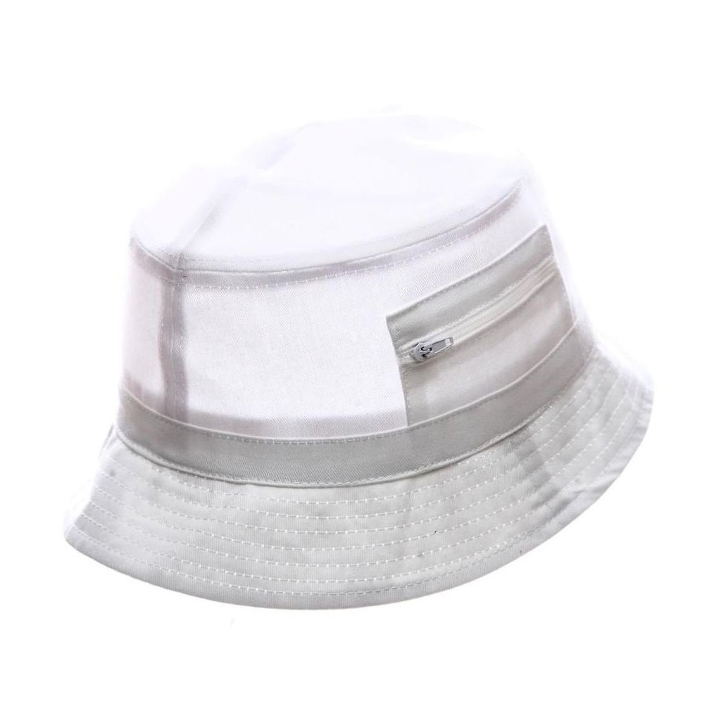 """Pánský letní bavlněný bílý klobouk """"Bucket hat"""""""