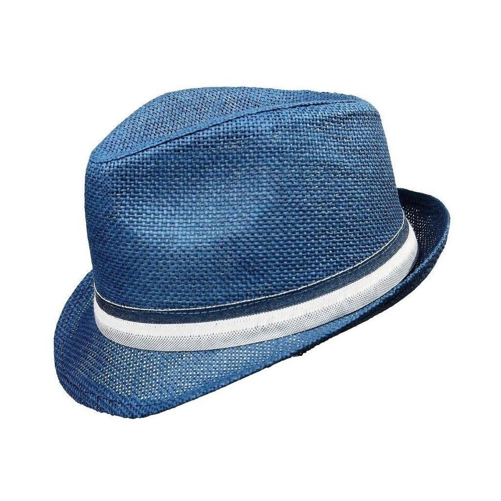 Pánský letní modrý klobouk Trilby
