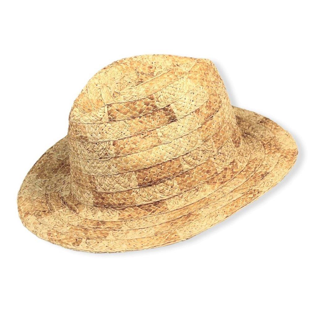 Pánský letní sleměný klobouk Fedora