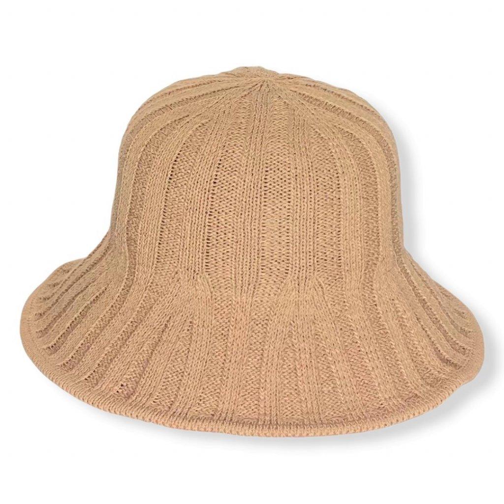 Dámský letní pletený klobouk