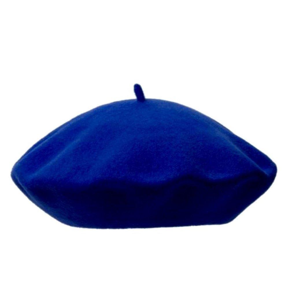 Dámský královsky modrý baret