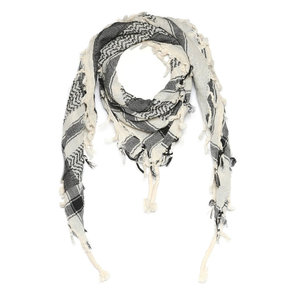 Pánský černobílý šátek