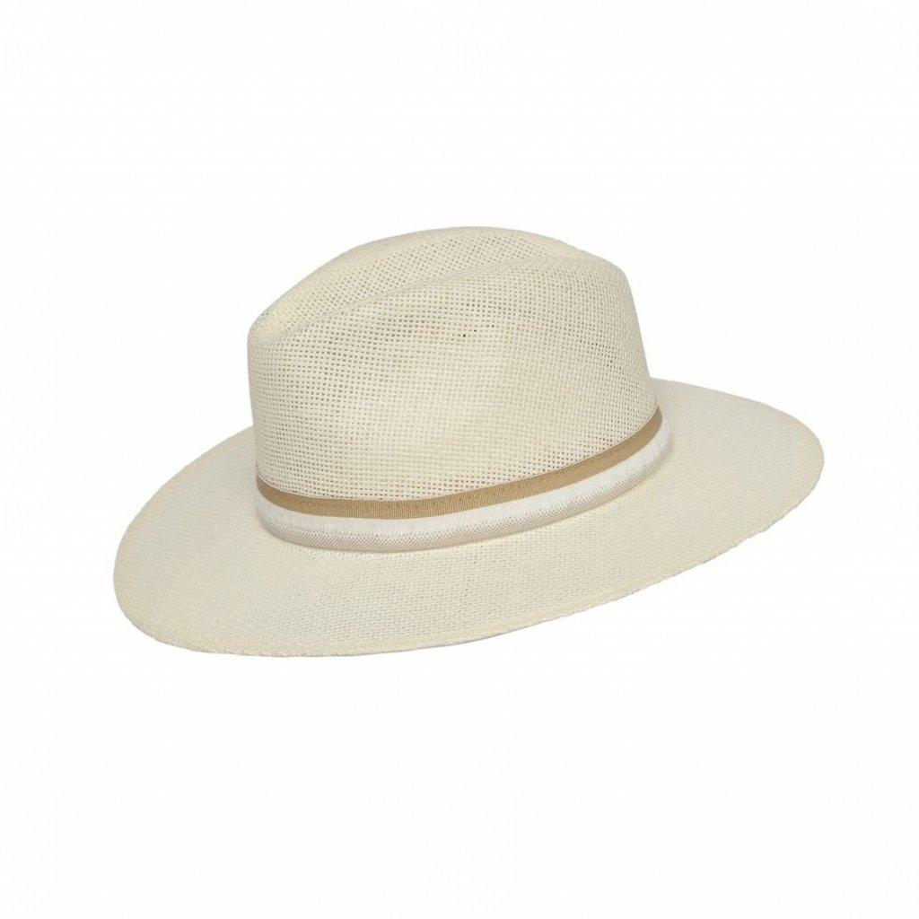 Pánský letní krémový klobouk Fedora