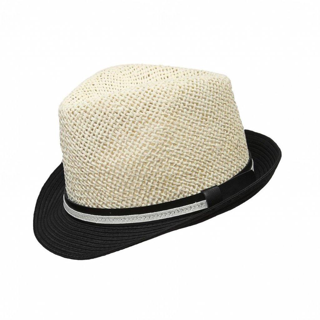 Pánský letní bíločerný klobouk