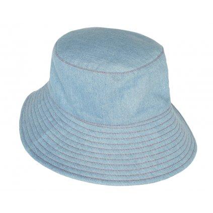 Dámský oboustranný džínový klobouk