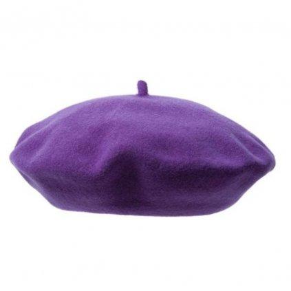 Dámský fialový baret