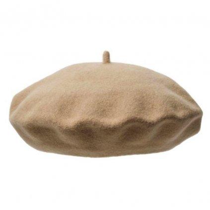 Dámský béžový baret