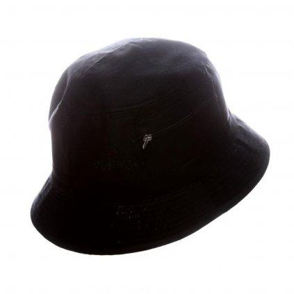 """Pánský letní bavlněný černý klobouk """"Bucket hat"""""""