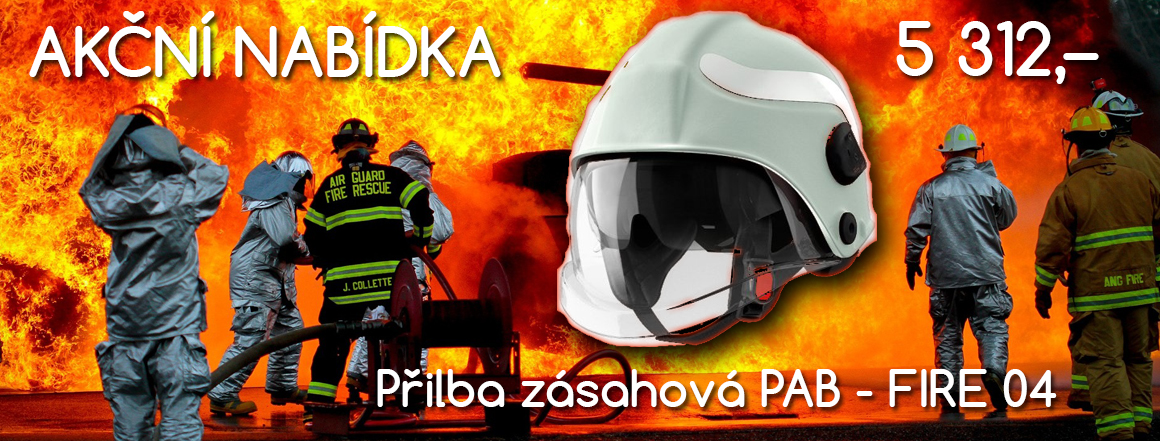 Akce - Přilba zásahová PAB - FIRE 04 kompozitní luminiscenční zdarma obal na přilbu