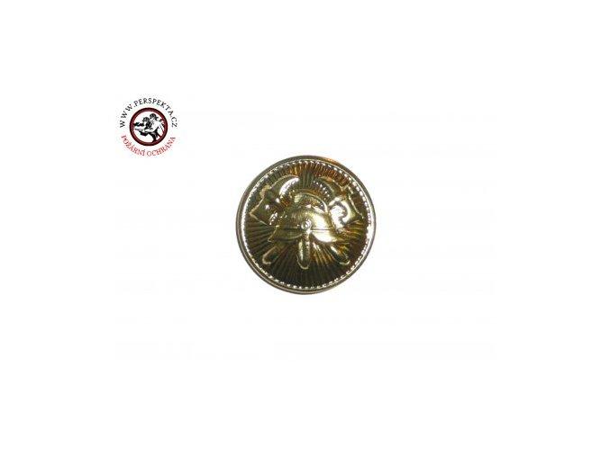 knoflík zlatý 15mm zapichovací