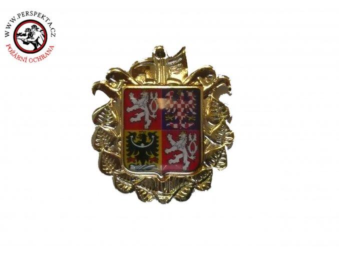 Odznak se zlatou podložkou