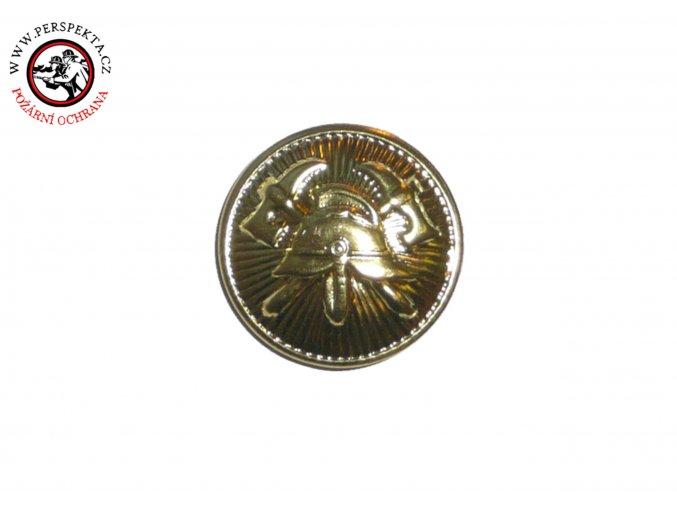 Knoflík zlatý 15mm našívací