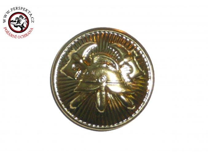 Knoflík zlatý 22mm našívací