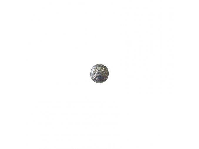 knoflík stříbrný 15mm zapichovací