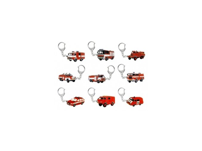 Přívěšek hasičské auta