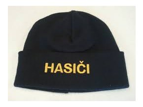 Čepice pletená s nápisem HASIČI