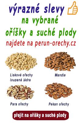 Výrazné slevy na vybrané oříšky a suché plody