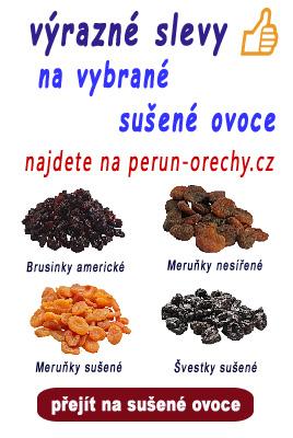 Výrazné slevy na vybrané sušené ovoce