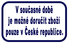 Doručení zboží pouze v ČR