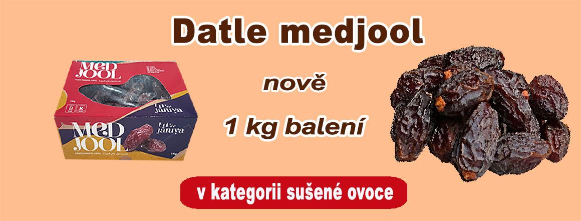 Datle medjool nově i v 1 kg balení