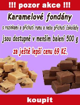 Karamelové fondány vybrané druhy nyní v 500 g balení