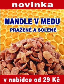 Mandle v medu pražené solené