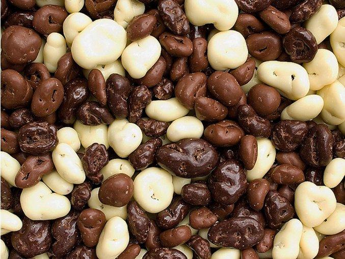 Brusinky v čokoládě a jogurtové polevě
