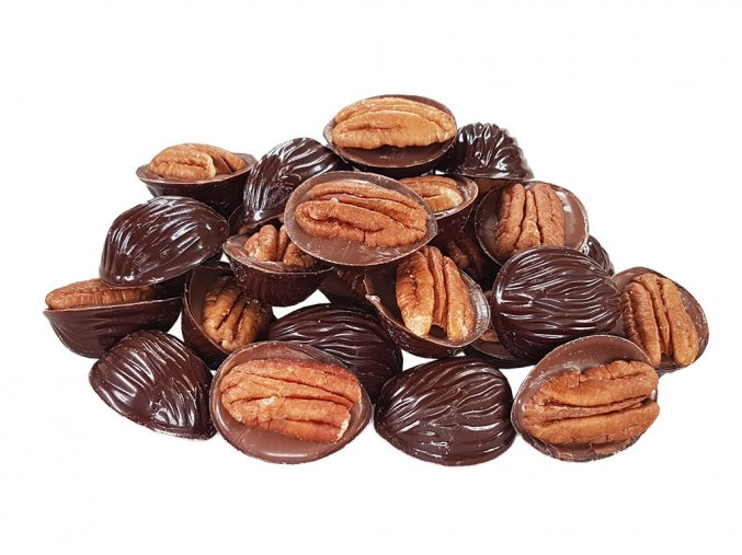 Pekan ořechy v hořké a mléčné čokoládě 1
