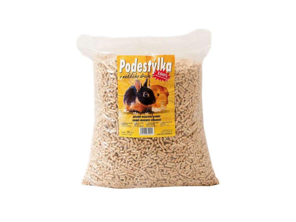 Podestýlka PELETY 26l/15 kg dřevo