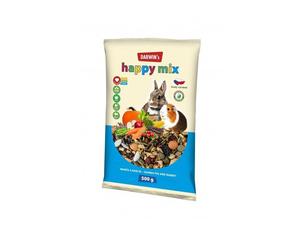 DARWIN's - NEW morče, králík HAPPY mix 500 g