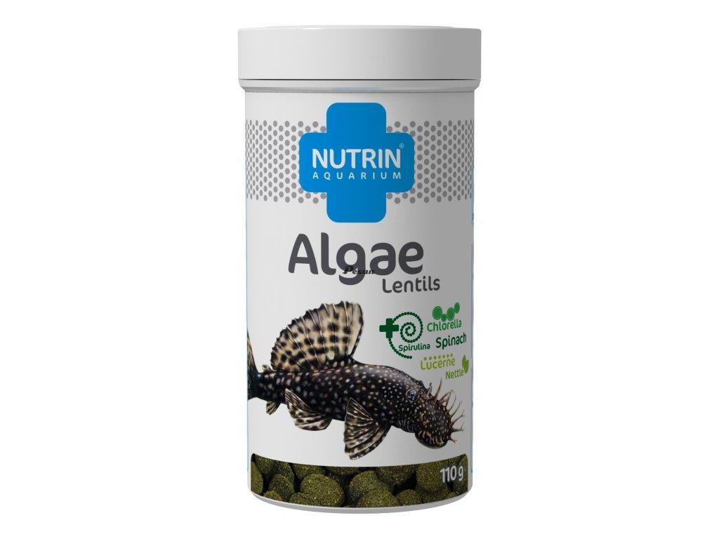 NUTRIN  Aquarium - ALGAE LENTILS 110g (250ml) - krmivo pro akvarijní ryby vyžadujících vysoký podíl kvalitních rostlinných složek vkrmivu.