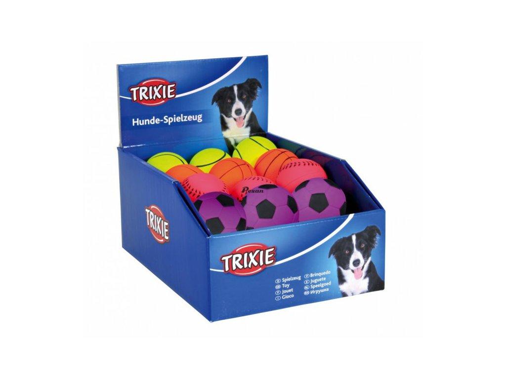 Sortiment neonových míčů,mechová guma 6 cm TRIXIE